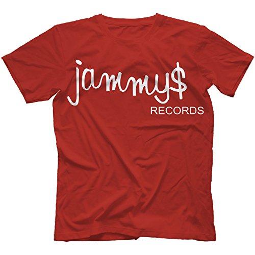 Jammy's Records T-Shirt Uomo Rosso