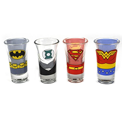 Half Moon Bay Justice League of America (Set 4 Gläser kleinen) Tall Shot Glass