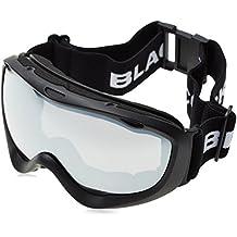 Black Crevice Máscara de Esquí Negro/Plateado