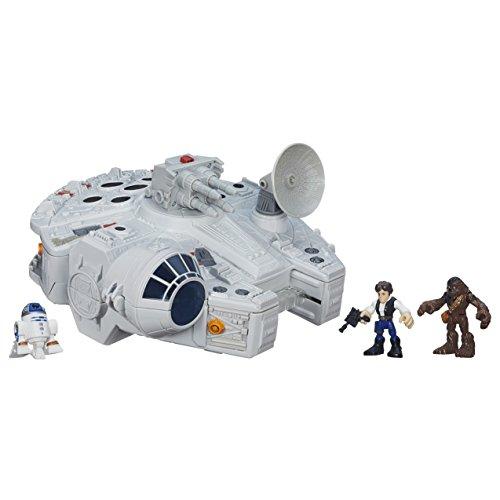Star Wars Playskool Galactic Heroes Spiel-Set mit Millennium Falke und Figuren