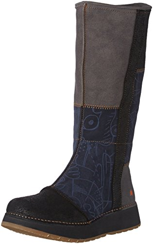 ArtHeathrow 1025 - Stivali classici al ginocchio Donna , Blu (Bleu (Lux Printed Ocean)), 38