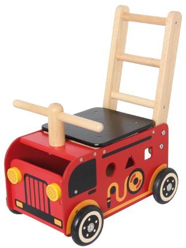 I M TOY Correpasillos Andador de madera El Camión de bomberos - im87480