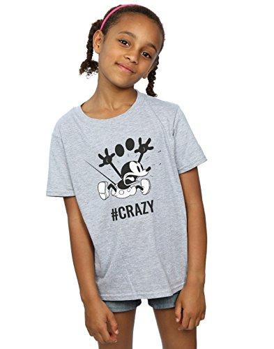 Disney Girls Mickey Mouse #Crazy T-Shirt