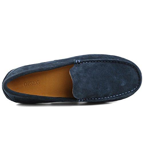 OZZEG  Fashion,  Herren Durchgängies Plateau Sandalen mit Keilabsatz Navy-blau