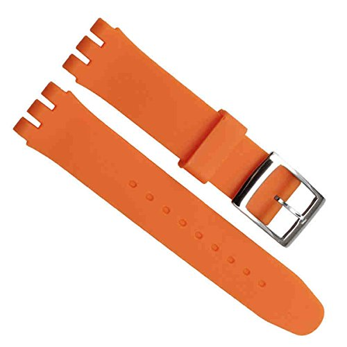 greenolive-19-mm-impermeabile-in-silicone-orologio-cinturino-in-gomma-di-ricambio-arancione