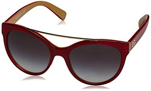 Dolce & Gabbana Damen 0DG4280 Sonnenbrille, Mehrfarbig (Top Red On Gold 29688G), 62