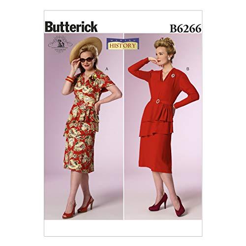 Butterick Patterns 6266E5Größen 14/16/18/20/22Schnittmuster Kostüm