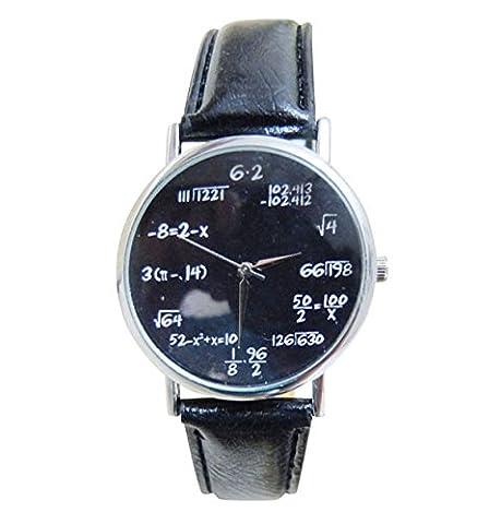 Unisex Armbanduhr Mathe Formeln Physik Wurzel Hipster Blogger Vintage silber