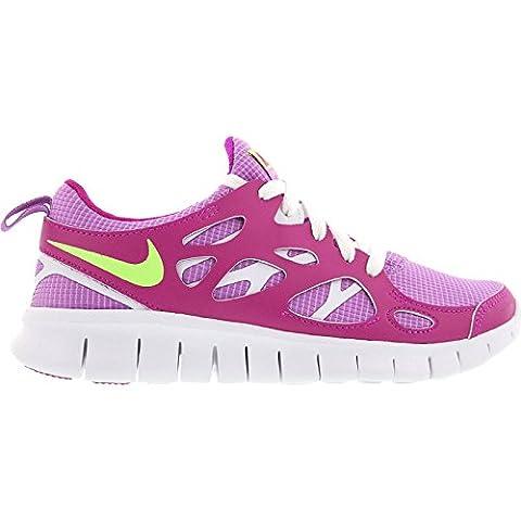 Nike Laufschuhe Free Run 2 (GS) Damen fuchsia glow-key lime-fuchsia flash-white (477701-503), 37,5,