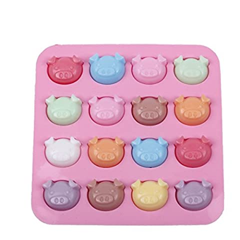 5Pcs GERMER Pig Head Silicone Chocolate Candy Hard Candy Mold Cake Decoration