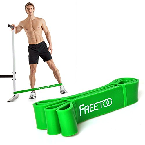 FREETOO Best Workout Rubber Band Resistance Bands Heavy Elastic 5 Levels Choose Home Gyms Exercises Loop Weight Training Body Building for Man and Woman(Green)
