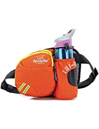 Multifunctional Waist Pack Water Resistant Waist Pack With Water Bottle Holder (The Bottle Is Not Included) Fanny...
