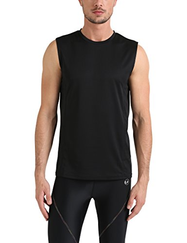 Lower East Herren Regular Fit Top LE236, Einfarbig, Gr. X-Large, Schwarz (Schwarz) (Muskel-fit Shirt)