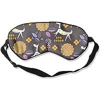 Sleep Eye Mask Dog Flowers Lightweight Soft Blindfold Adjustable Head Strap Eyeshade Travel Eyepatch E6 preisvergleich bei billige-tabletten.eu