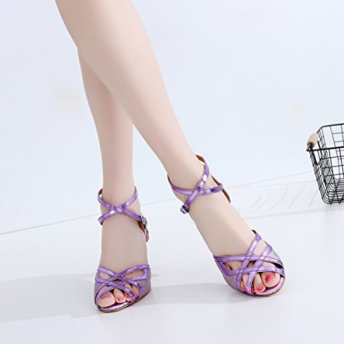 Minitoo ,  Damen Tanzschuhe Purple-7.5cm Heel
