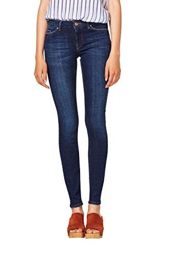 edc by ESPRIT Damen Skinny Jeans 078CC1B008, Blau (Blue Dark Wash 901), W28/L32