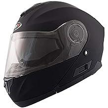Shiro – Casco sh507, color negro mate, ...
