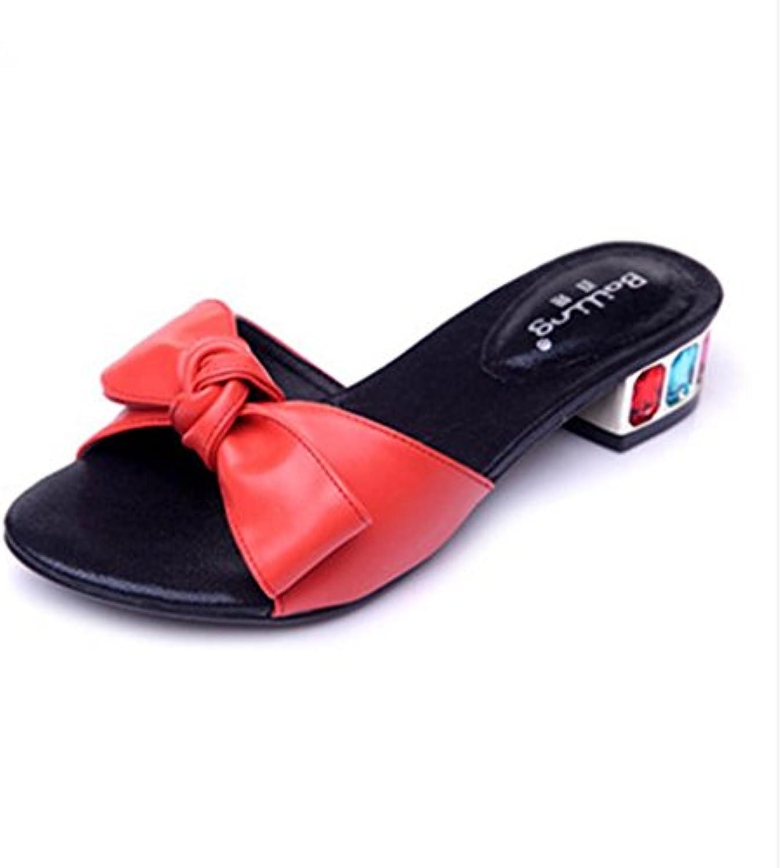 BaiLing Pattini di estate delle donne pattino mezzo aperto aperto aperto pattini femmina dei sandali di piccola dimensione di... | Materiali Selezionati Con Cura  | Uomo/Donna Scarpa  8e4a97