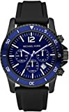 Michael Kors Men's Watch MK8165 With Blue Dial And Black Rubber Strap