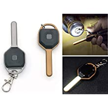 LED Keyhole Light Lamp, Vimmor 2 Pack Portable Key Shape Mini Nightlights, Illuminate The Keyhole/Door Lock, 2 CR2032 Button Batteries Included, 50 Lumen with 7 LED's, Gold and Silver