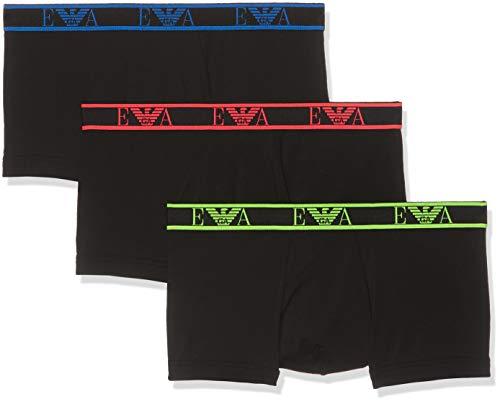 6f5a8c933 Emporio Armani Underwear Men's 9P715 Trunks Multicolour (Nero/Nero/Nero  21320) Small
