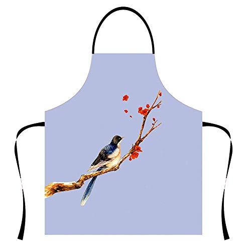 Lustige Küchenschürze 3D Schöne Vogel Mode gedruckt Schürzen Kochen BBQ Backen Keramik und Grillen Schürzen Party Cosplay Kostüm Bestes Geschenk für (Große Vogel Teen Kostüm)