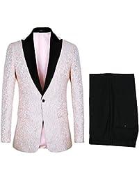 Amazon.es  Rosa - Chaquetas de traje y americanas   Trajes y blazers ... 5b266753f7b