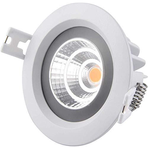 WPOLED LED Redondo IP65 empotrable Foco a Prueba de Agua Lámpara de...
