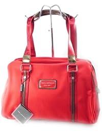 Bolso bowling rojo para mujer, marca francesa Ted Lapidus