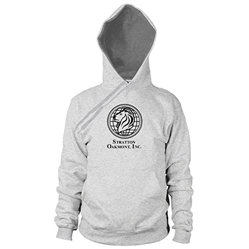Of Kostüme Wolf Wall Street (Stratton Oakmont Inc. - Herren Hooded Sweater, Größe: M, Farbe: grau)