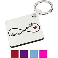 Regalo Original San Valentin/Llavero Infinito Personalizado/Pareja/Enamorados/Mujer/Hombre/Chica/Chico/Novia/Novio/Aniversario/Cumpleaños