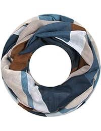 Majea Damen Loop Schal viele Farben tolle Muster Schlauchschal Halstücher