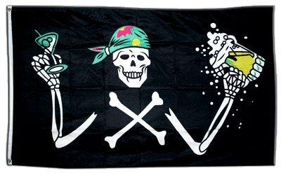 Digni Drapeau Pirate avec bière - 90 x 150 cm Sticker gratuit