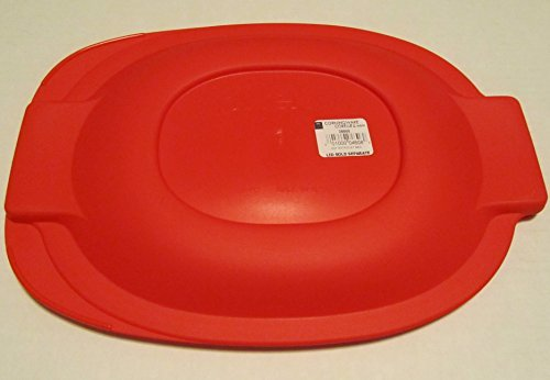 Pyrex Red Plastic Lid for 2 Qt Oval Baking Dish
