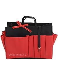 Organisateur De Sac - XL Noir/Rouge - Taille XL : Long 26 Cm X Haut 19 Cm X Prof 12 Cm