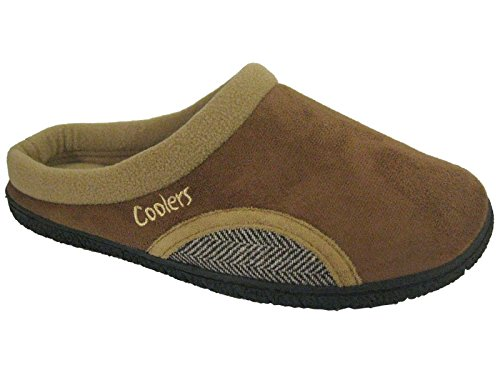 Hommes Microsuede Boucher doublure polaire chaussons taille Tan