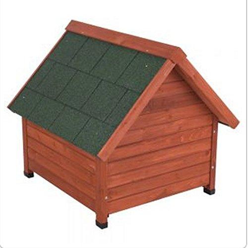 Doppelwandige Hundehütte aus Holz, Schutz vor Hitze und Kälte über das ganze Jahr, ideal für Hunde, die im Freien leben - 2