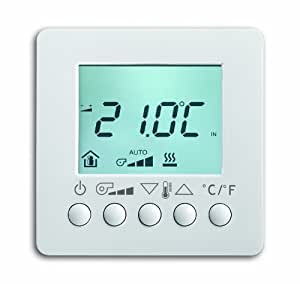 busch jaeger 6138 84 fan coil thermostat with display ap. Black Bedroom Furniture Sets. Home Design Ideas