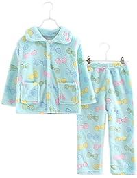 Classic Flannel Niños pijama traje de baño suave Velvet Sleepwear Nightcloth