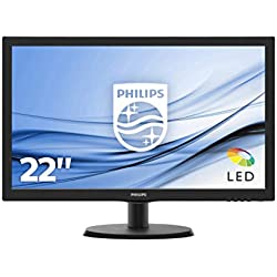"""Philips 223V5LSB2/10 Ecran PC LED 21,5"""" (55 cm) ( Full HD 1920 x 1080, 16:9, 5 ms)"""