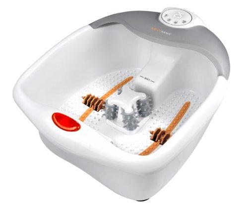 Medisana FS 885 Fußsprudelbad mit Fußreflexzonenmassage - elektrisches Fußbad mit Wärmefunktion und Vibrationsmassage für eine angenehme Fußmassage mit Timerfunktion - 88378