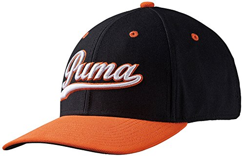 Puma Casquette Script Fitted – Black/vibrant Orange, S/M