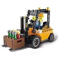 barsku Build Your Own Robot Toys for Kids,City Series Forklift Truck Building Blocks City Construction Blocks Toy for Children Kids Christmas Gift