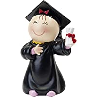 Mopec Figura Pastel Pita Graduación, Resina, Negro, 6x8x14 cm