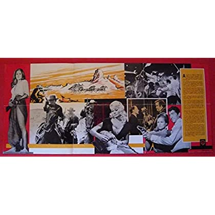 Dossier de presse de 4 du Texas – 4 for Texas (1963) – 31x73 cm Film de Robert Aldrich avec F Sinatra, D Martin, A Ekberg, U Andress – Photos N&B + résumé du scénario– Bon état.
