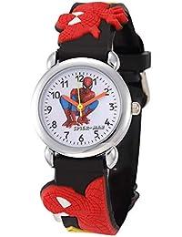 Swadesi Stuff Black Amazing Spider Man Stylish Analog Kids Watch for Boys & Girls