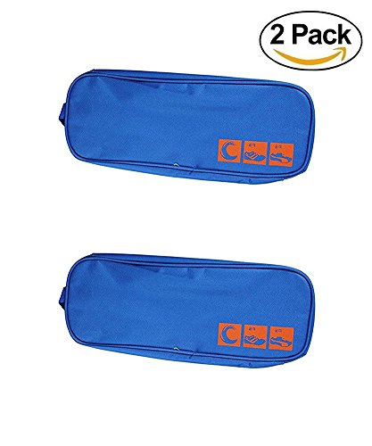 Price comparison product image Ciaoed PVC Shoes Bag Waterproof Travel Shoe Pouch Breathable Shoe Storage Case Pack-2 Blue