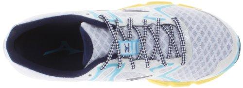 Mizuno Wave Hitogami Synthétique Chaussure de Course White-Blue