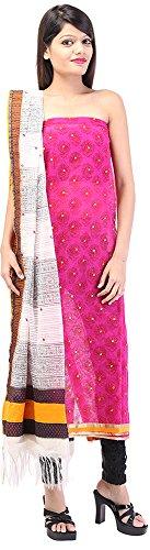 Palkin Women's Jute Unstitched Salwar Suit - (P39, Pink)