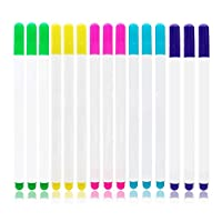 Gobesty Heat Erasable Fabric Pens, 15 Pcs High Temperature Disappearing Fabric Marker Pens for Sewing, Quilting, Dressmaking, 5 Colors